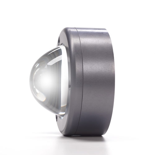 Profile view of multicolor RGBW lens