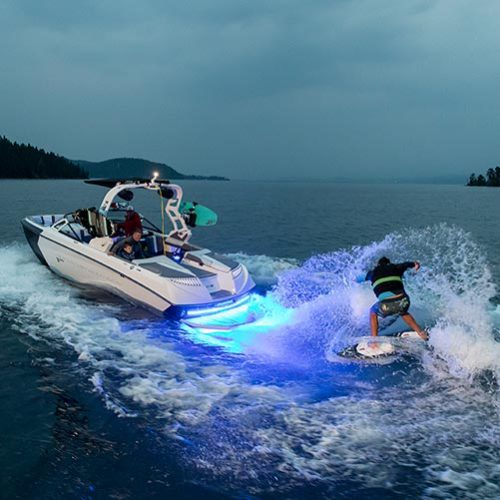 "Underwater boat lights powered by ""Lumen-Boost""™ Technology"